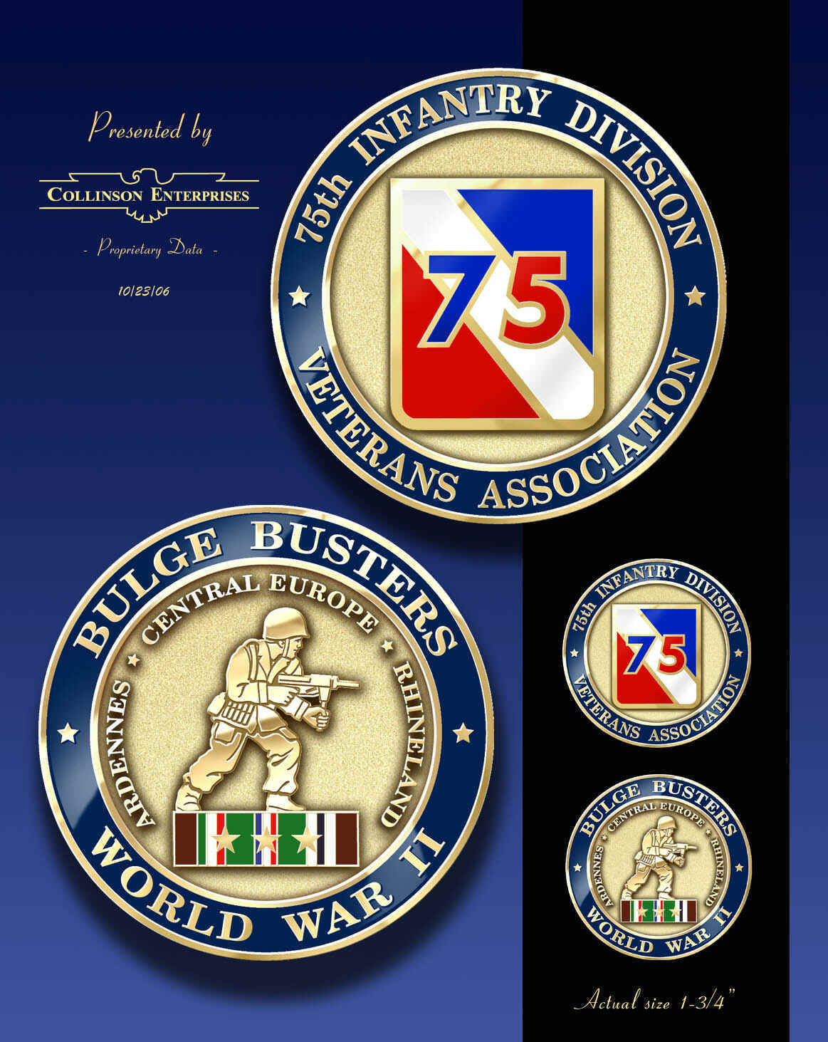 75th Infantry Division Veterans' Association Collectibles.